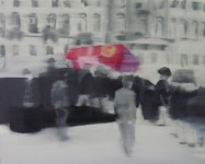 ASSASSINATION IN SARAJEVO THE AFTERMATH Deconservation of 1914 cycle Oil on canvas 80 x 100 cm